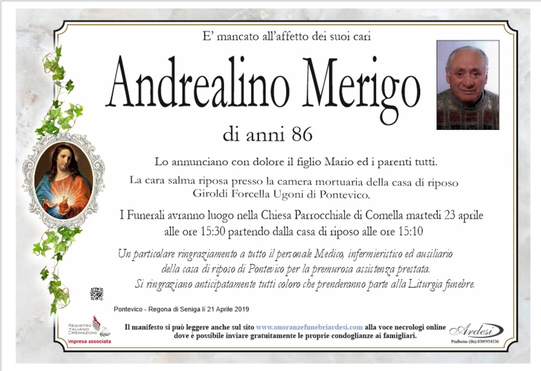 ANDREALINO MERIGO - PONTEVICO REGONA DI SENIGA