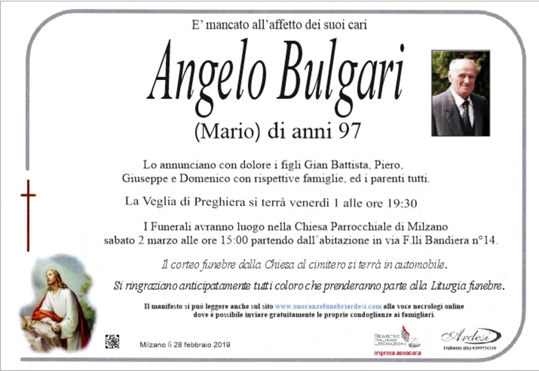 ANGELO BULGARI - MILZANO