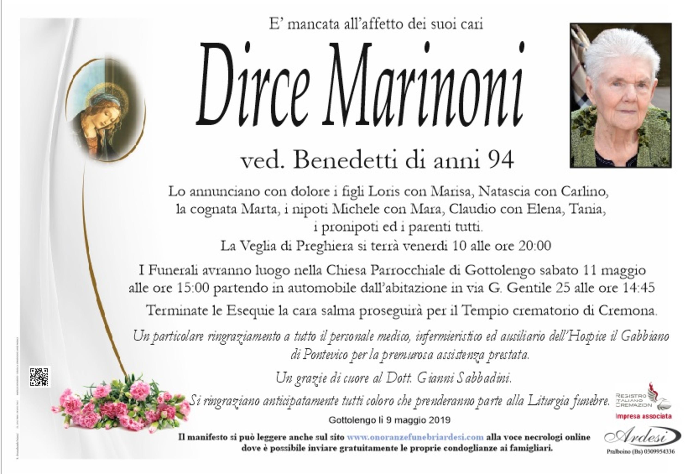 DIRCE MARINONI - GOTTOLENGO
