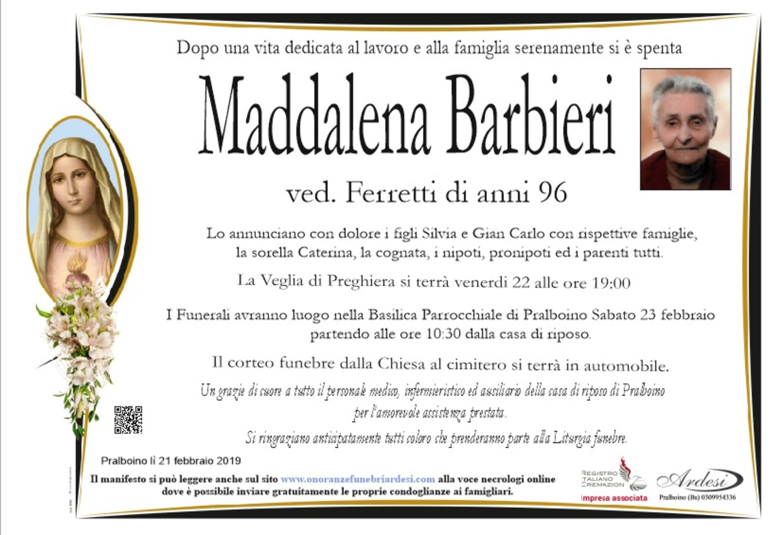 MADDALENA BARBIERI - PRALBOINO