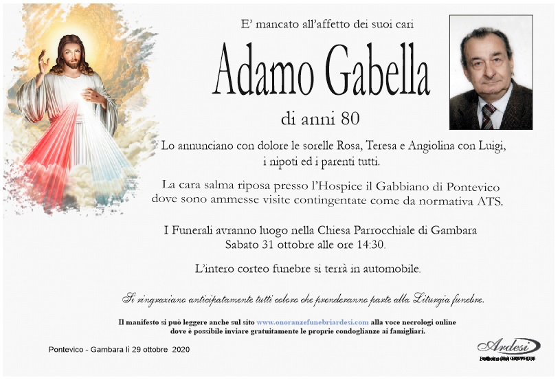 ADAMO GABELLA - PONTEVICO GAMBARA
