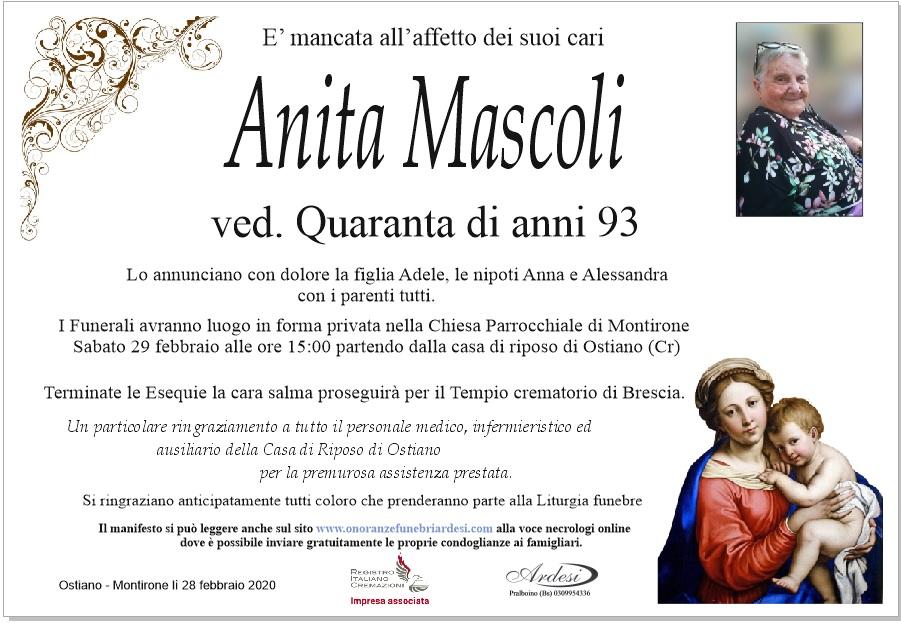 ANITA MASCOLI - OSTIANO MONTIRONE