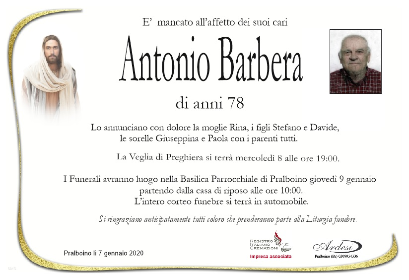 ANTONIO BARBERA - PRALBOINO