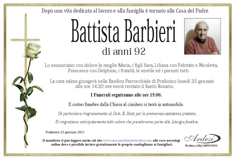 BATTISTA BARBIERI - PRALBOINO