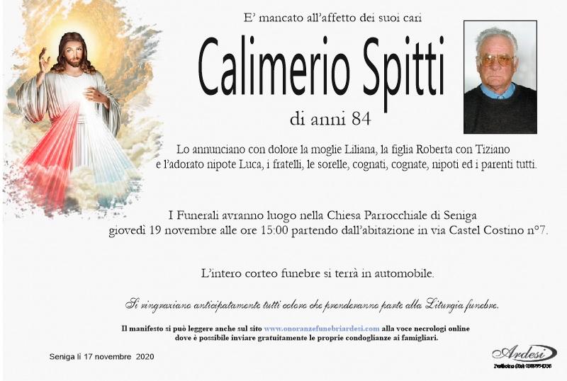 CALIMERIO SPITTI - SENIGA