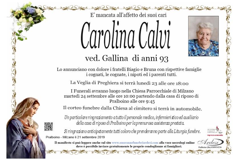 CAROLINA CALVI PRALBOINO - MILZANO