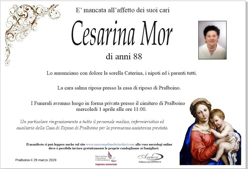 CESARINA MOR - PRALBOINO