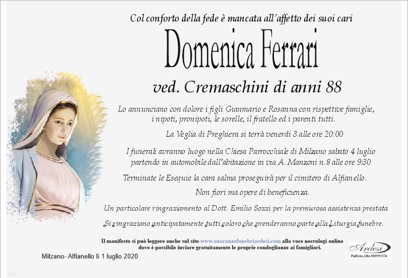 DOMENICA FERRARI MILZANO - ALFIANELLO