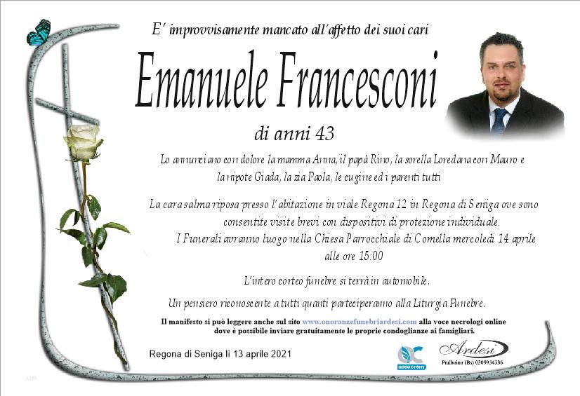 EMANUELE FRANCESCONI - REGONA DI SENIGA - PRALBOINO