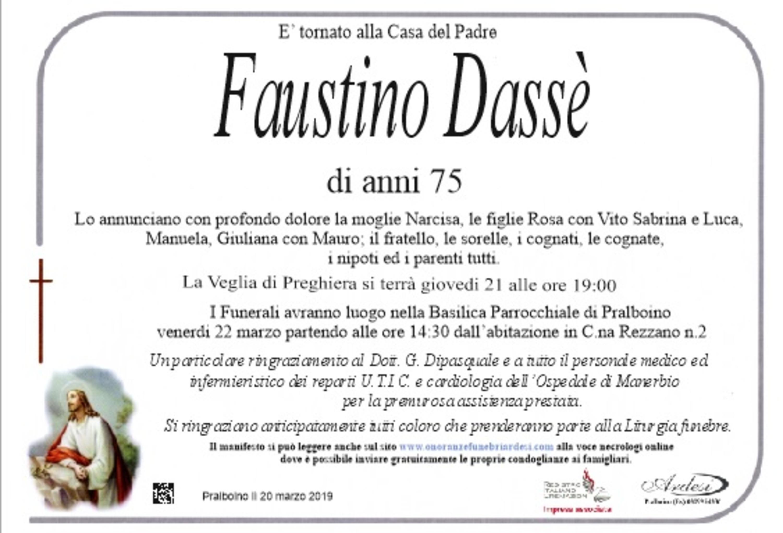 FAUSTINO DASSE' - PRALBOINO