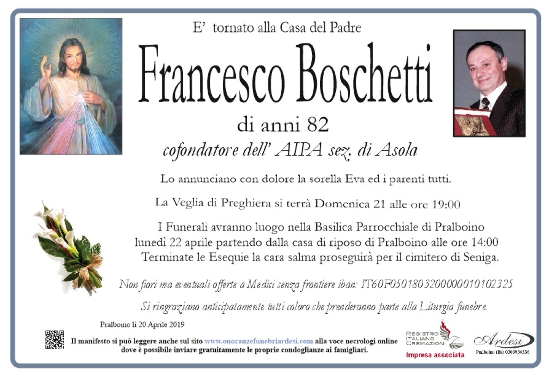 FRANCESCO BOSCHETTI - PRALBOINO