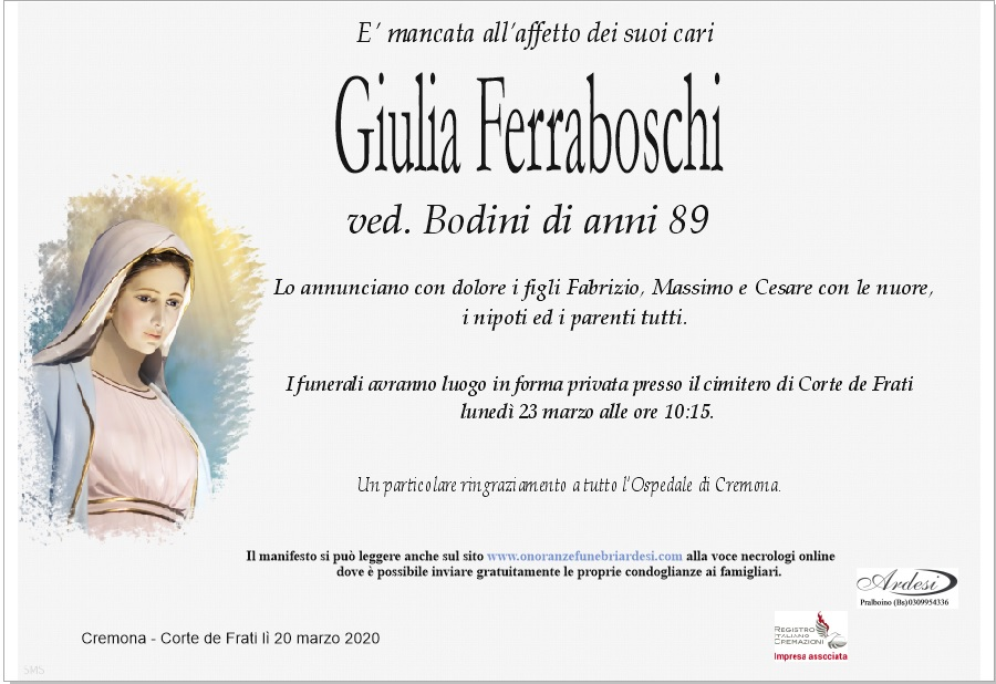 GIULIA FERRABOSCHI - CREMONA CORTE DE FRATI