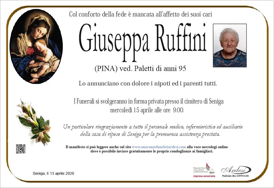 GIUSEPPA RUFFINI - SENIGA
