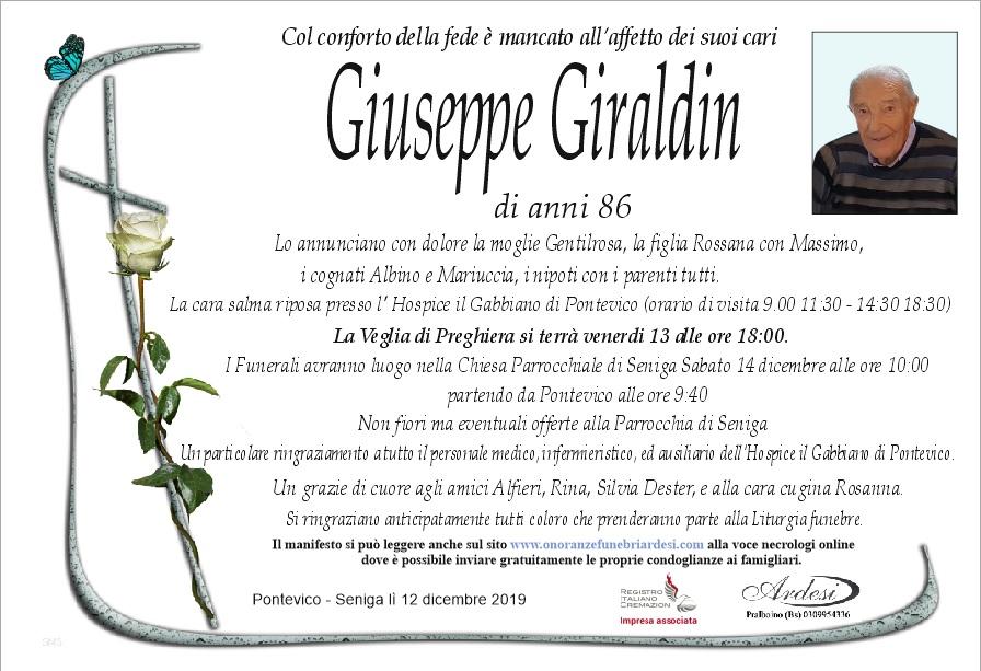GIUSEPPE GIRALDIN  PONTEVICO - SENIGA