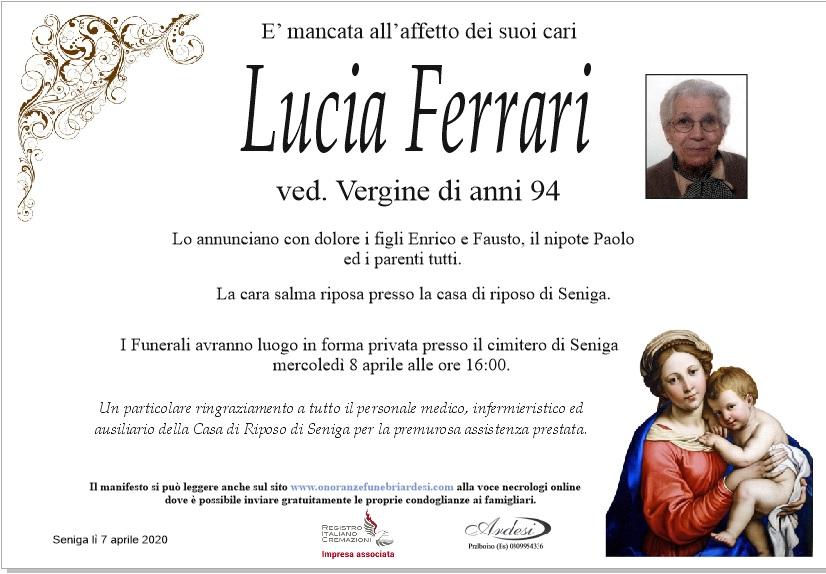 LUCIA FERRARI - SENIGA
