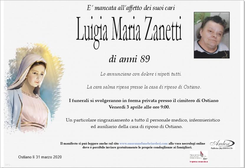 LUIGIA MARIA ZANETTI - OSTIANO