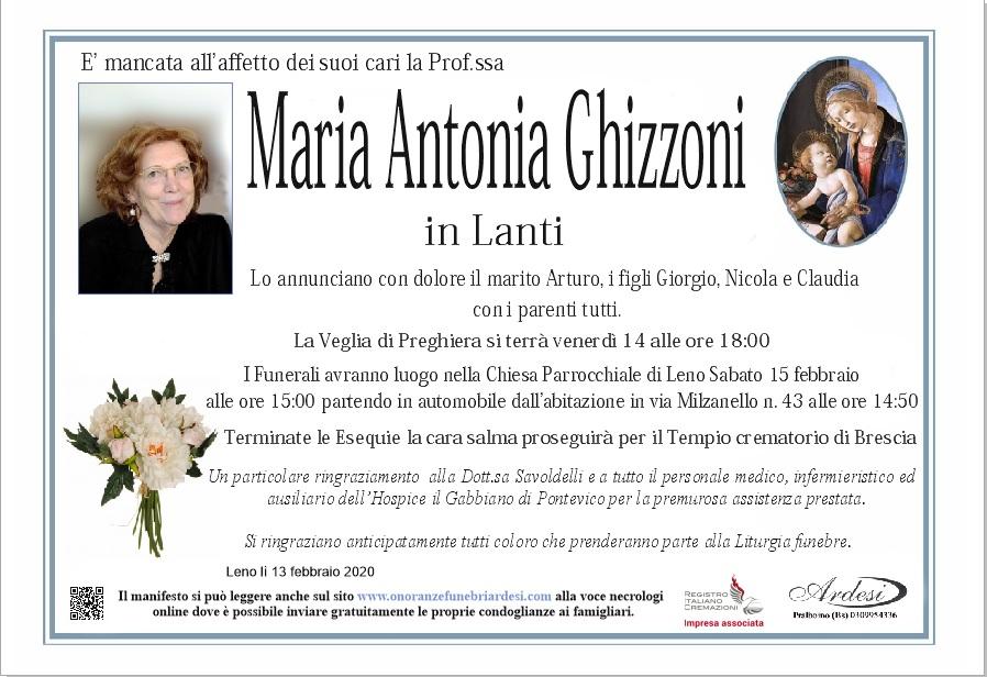 MARIA ANTONIA GHIZZONI - LENO