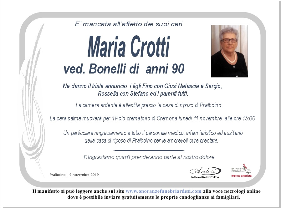 MARIA CROTTI - PRALBOINO