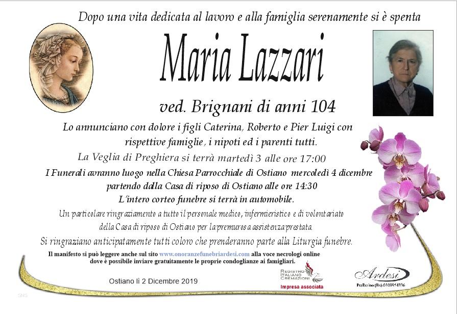 MARIA LAZZARI - OSTIANO