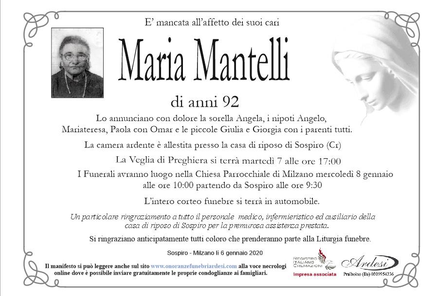 MARIA MANTELLI