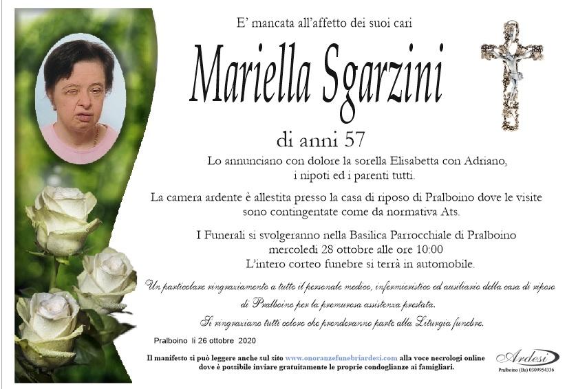MARIELLA SGARZINI - PRALBOINO