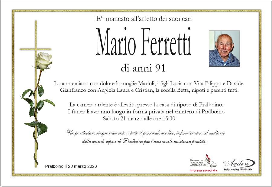 MARIO FERRETTI - PRALBOINO