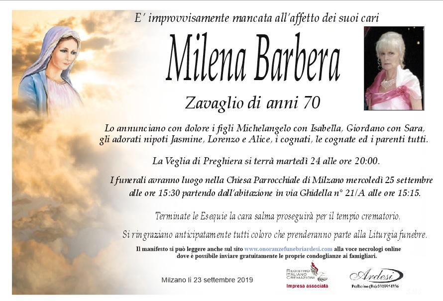 MILENA BARBERA - MILZANO