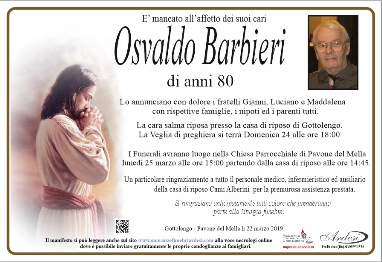 OSVALDO BARBIERI - GOTTOLENGO-PAVONE DEL MELLA