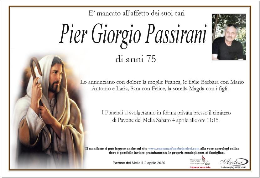 PIER GIORGIO PASSIRANI - PAVONE DEL MELLA