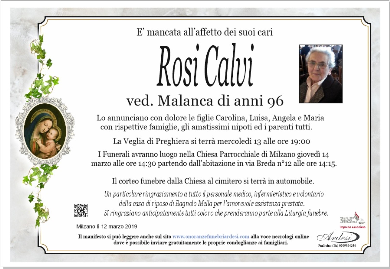 ROSI CALVI - MILZANO