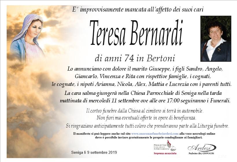 TERESA BERNARDI IN BERTONI SENIGA